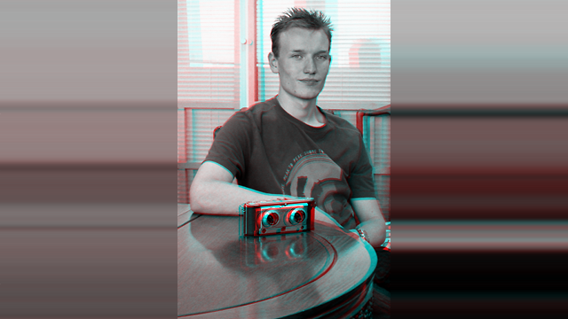 An anaglyph of James Mardell